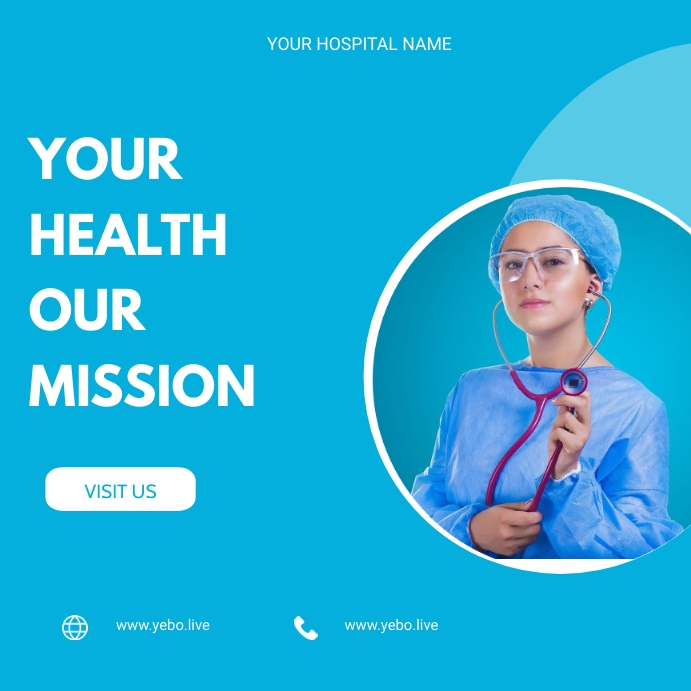 Health flyer Wpis na Instagrama template