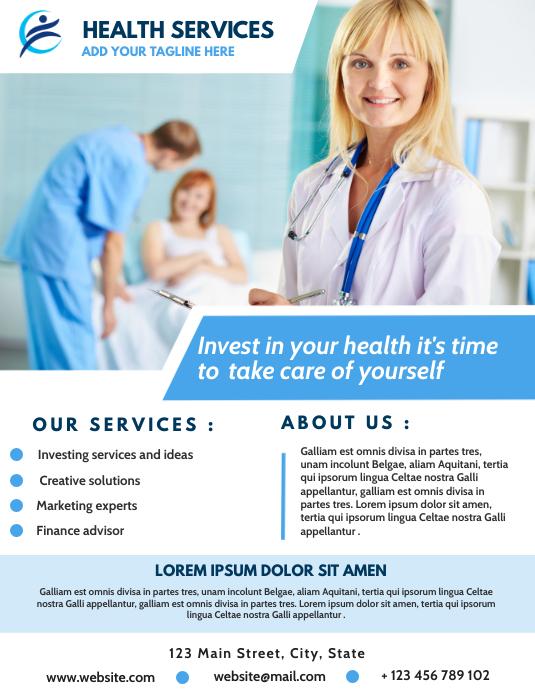 health flyer template design Pamflet (VSA Brief)