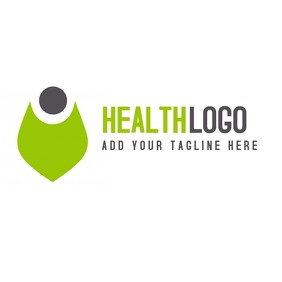 Health green and grey icon logo