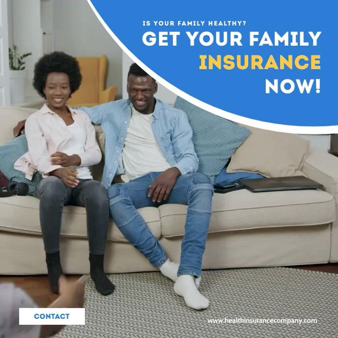 Health Insurance Company Ad Video template