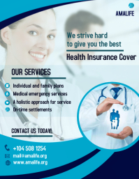 health insurance flyer design Рекламная листовка (US Letter) template