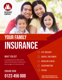 HEALTH INSURANCE FLYER Ulotka (US Letter) template