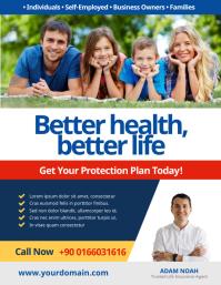 Health Insurance Flyer Poster Folheto (US Letter) template