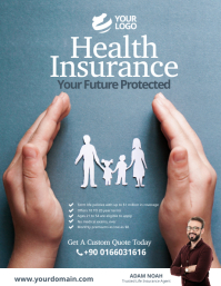 Health Insurance Flyer Poster template