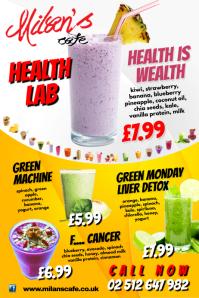 Health Lab Menu Poster