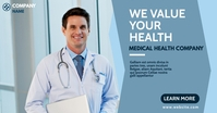 health medical banner advertisement Iklan Facebook template