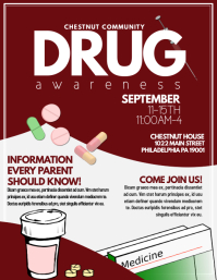 Customizable design templates for drug awareness for Drug brochure template