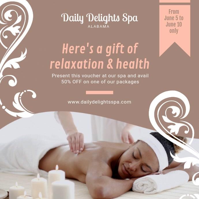Health Spa and Salon Advert