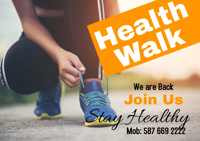 Health Walk A2 template