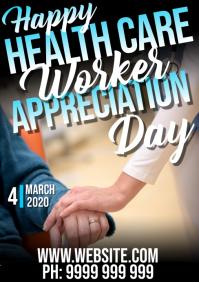 healthcare appreciation day A5 template