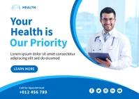 Healthcare Banner Template Design Poskaart