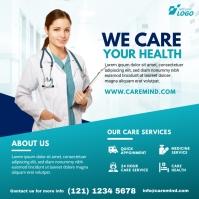 Healthcare Center Advert Instagram Post template