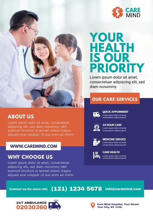 Healthcare Flyer Template A4