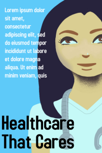 Healthcare promotional poster