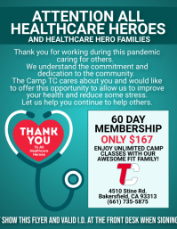 Healthcare Workers Flyer (US Letter) template