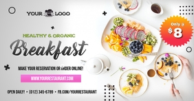 Healthy & Organic Breakfast Social Media Ad T Iklan Facebook template