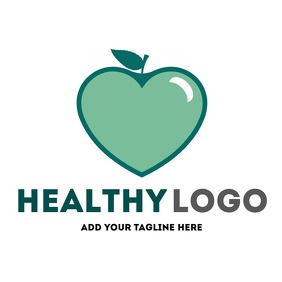 healthy apple logo icon
