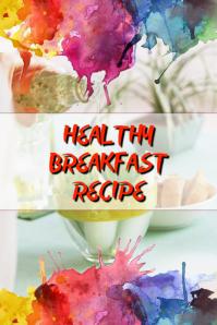 Healthy Breakfast Gráfico de Pinterest template