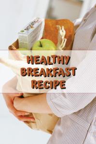 Healthy Breakfast Pinterest Grafieka template