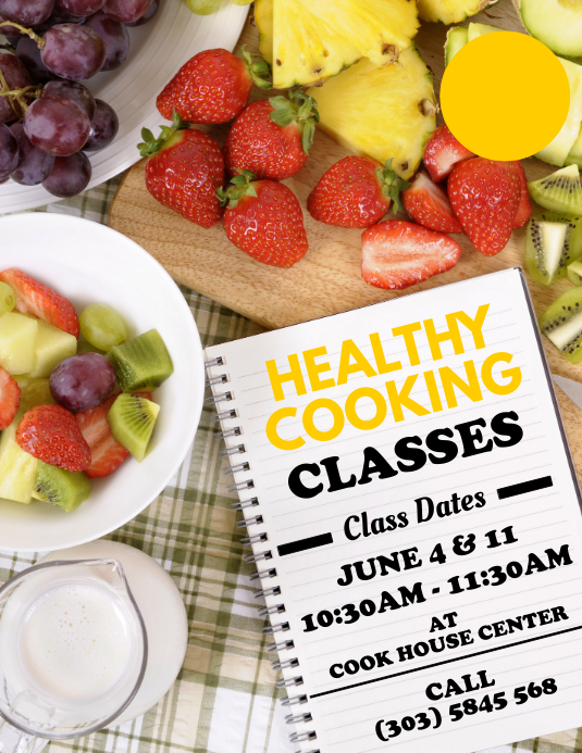 Healthy Cooking Flyer Template