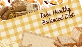 Bakery, Healthy diet, balanced diet,food Header Blog template