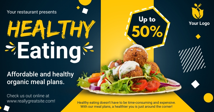 Healthy Eating Discount Deal Facebook Image T template