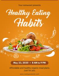Healthy Eating Habits Restaurant Flyer Templa template