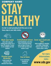 healthy flyer advertisement coronavirus