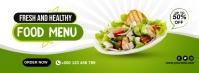 Healthy Food Cover Portada de Facebook template