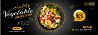 Healthy Food Cover Fotografia de capa do Facebook template