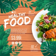 Healthy Food Square (1:1) template