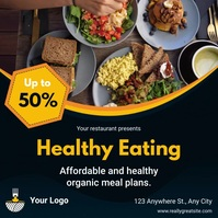 Healthy Food Menu Discount Instgram Video Tem Instagram Post template
