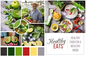 Healthy Food Moodboard Poster