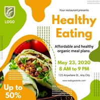 Healthy Food Restaurant Instagram Post Templa template