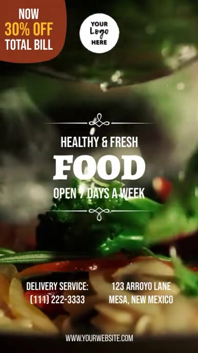 Healthy Food Restaurant Instagram Story template