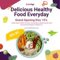 healthy food social media post design template