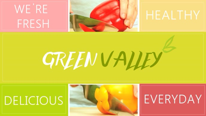 Healthy food Video template