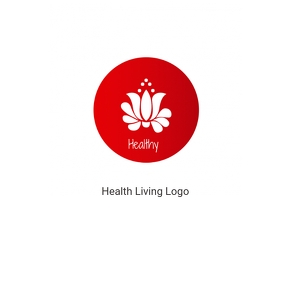 Healthy living logo template