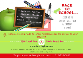 healthy meal plan flyer