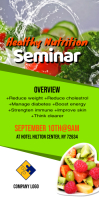 Healthy Nutrition Seminar Flyer Spanduk Gulir Atas 3' × 6' template