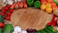 healthy organic food vegetables video YouTube Thumbnail template