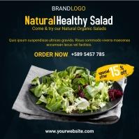 healthy salad social media post design โพสต์บน Instagram template