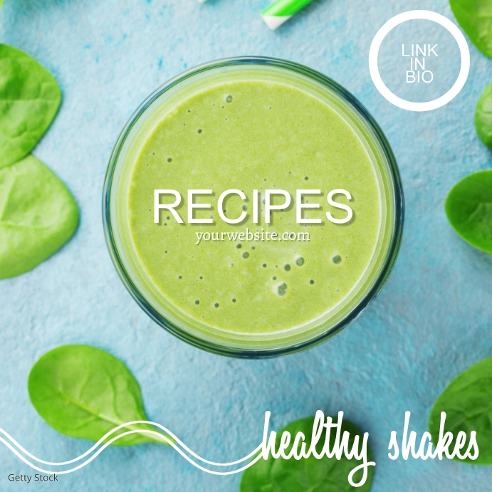 Healthy Shakes Recipe Instagram Ad template