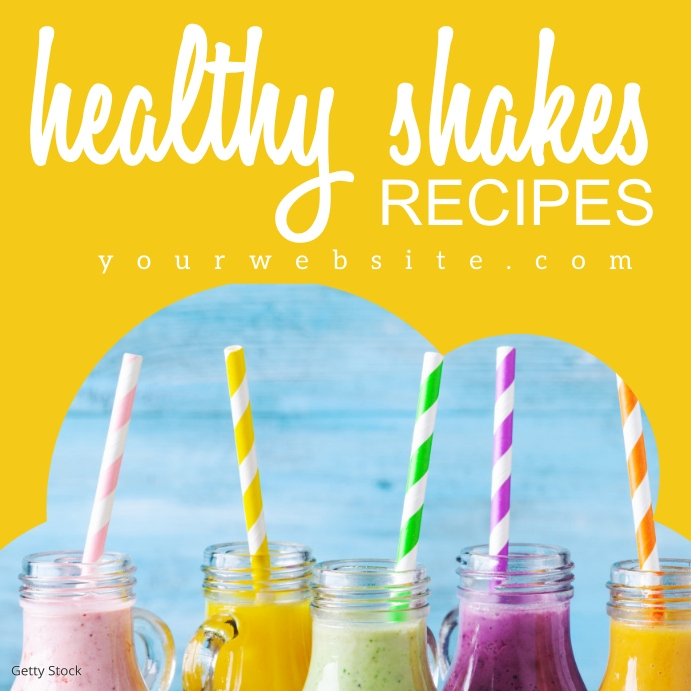 Healthy Smoothie Shakes Recipe Instagram Ad template