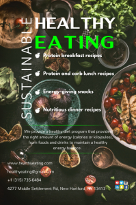 Healthy Sustainable Eating Poster template
