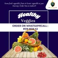 healthy veggies poster template