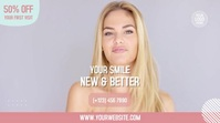 Healthy White Smile Clinic Display digitale (16:9) template