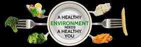 Healthy World Environment Day Template Spanduk 2' × 6'
