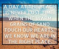 HEART AND BEACH QUOTE TEMPLATE Rettangolo grande