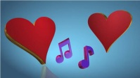 Heart and romance and love YouTube-Miniaturansicht template